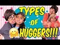 Types of Huggers - Funny Comedy Skits - YouTube Kids // GEM Sisters