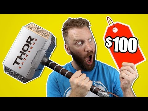 $100 Thor Hammer Vs $10 Nerf Thor Hammer Gear Test By KIDCITY