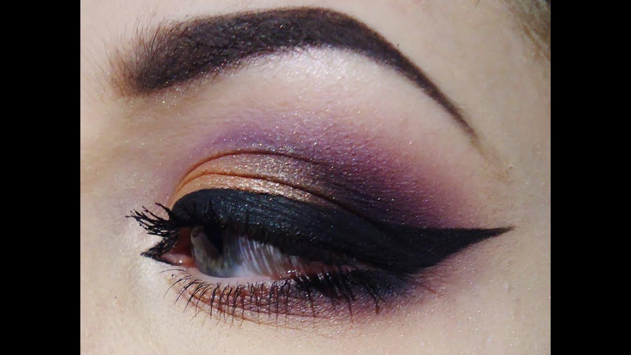 Purple Gold Eyes Makeup Tutorial