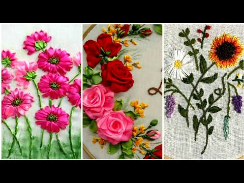 Stunning Silk Ribbon Flowers Embroidery And Some Other wonderful Hand Embroidery Design