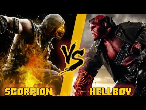 Скорпион (Мортал Комбат) Vs Хэллбой / Scorpion (Mortal Kombat)  Vs Hellboy - Кто Кого? [bezdarno]