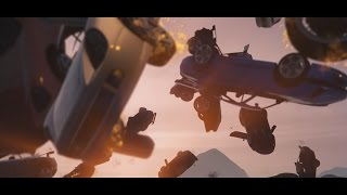Grand Theft Auto V PC - Slo mo chain reaction explosion