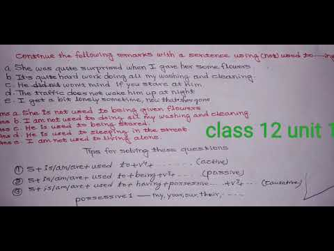 English Grammar | Class 12 | unit | Meaning Into Words|
