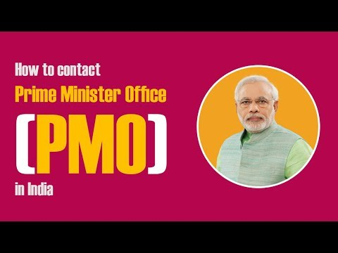 How To Contact Prime Minister Office(PMO) In India
