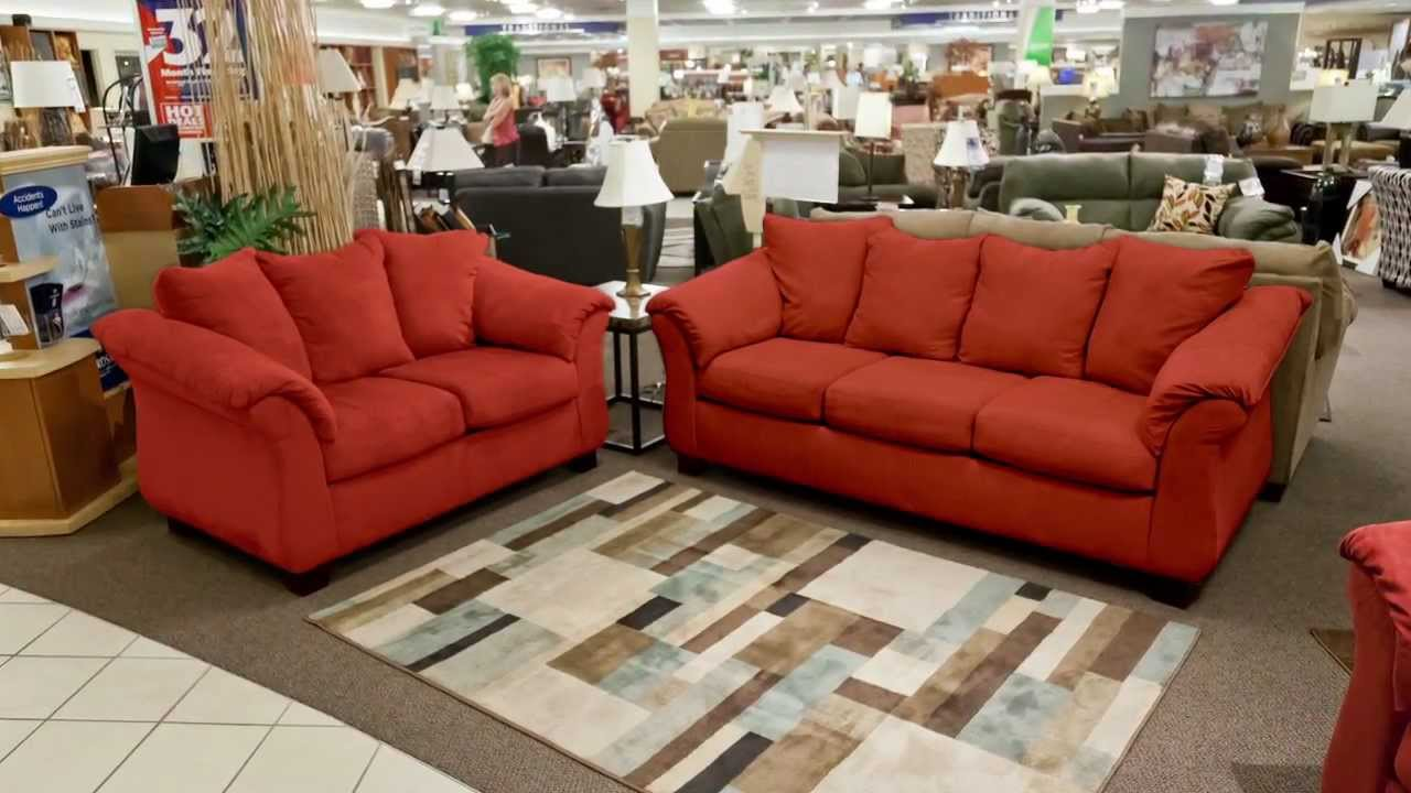 American furniture merlot calcutta sofa and loveseat set for Sofa mart couch warranty