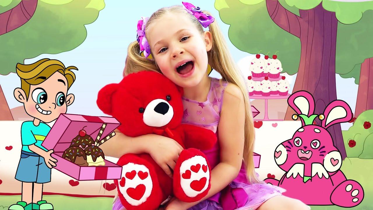 ديانا وروما ينقذان عيد الحب, الرسوم المتحركة للأطفال
