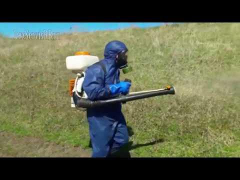 Санитарная обработка территории от клещей и комаров.