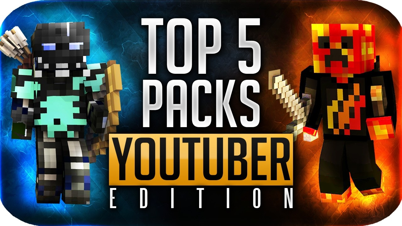 Top 5 Texture Packs Minecraft Youtubers Use Youtuber
