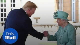 Did Donald Trump greet the Queen with a fist bump?