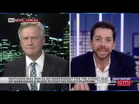 Presenter, Host, MC - James Mathison - The Bolt Report: James Mathison Talks Winning Warringah