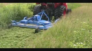 Kubota L3400 HST Mowing Grass