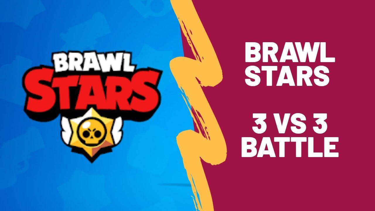 brawl stars gameplay 3 vs 3 battle with ninja  youtube