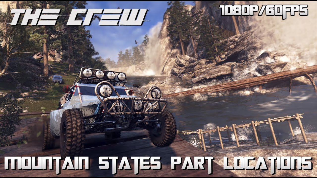 The Crew Hidden Car Part Locations (Mountain States) - YouTube