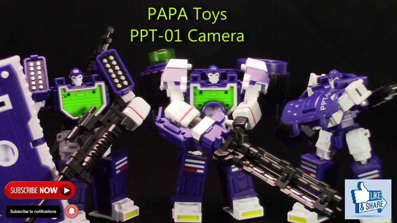 In Stock PPT CAMERA THREE BROTHERS PPT01 TRANSFORMERS POCKET WAR PAPA TOYS NEW