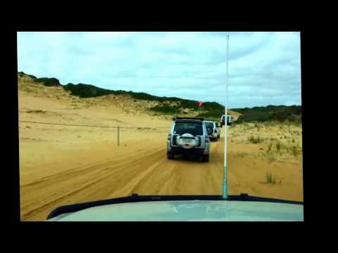 Mitsubishi PAJERO 4WD Offroad Beachport to Robe South Australia - 2016, TIME LAPSE
