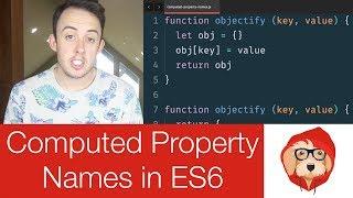 Computed Property Names in JavaScript | ES6 | ES2015