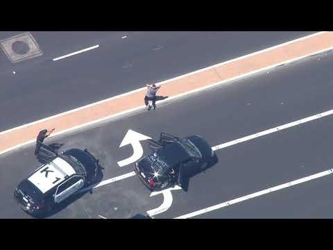 3/27/15: Car Chase Disneyland Parking Garage - Unedited