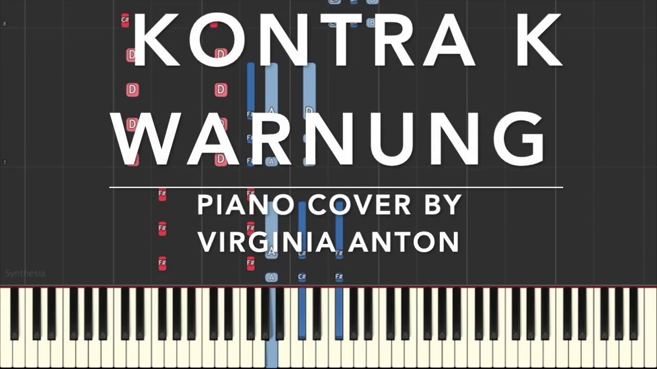 Kontra K Warnung Piano Tutorial Instrumental Cover - YouTube