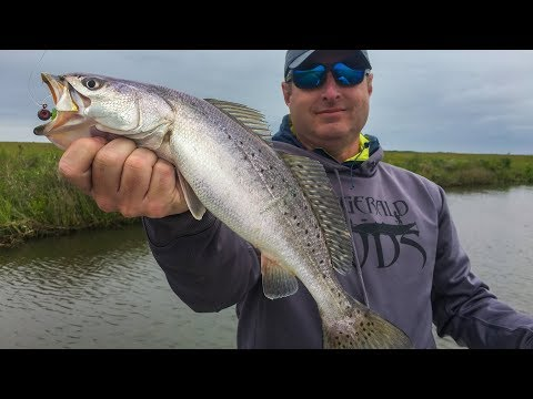 Blasting speckled trout while shooting national TV show