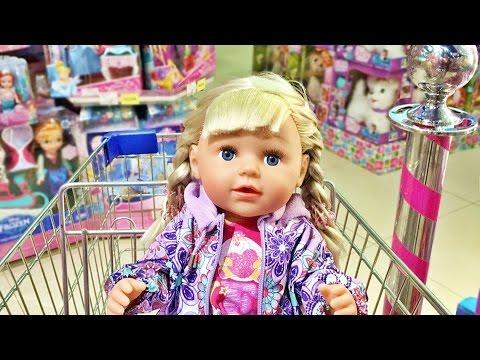 Видео: Кукла Беби Бон 2016 Настя Шоппинг Детском магазине 2 Маша и Медведь Много Игрушек влог Зырики ТВ