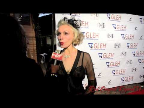 Julie Newmar at the Green Room Golden Globes Viewing Gala