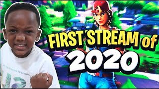 FIRST STREAM OF 2020 with MOM - PLAYING FORTNITE