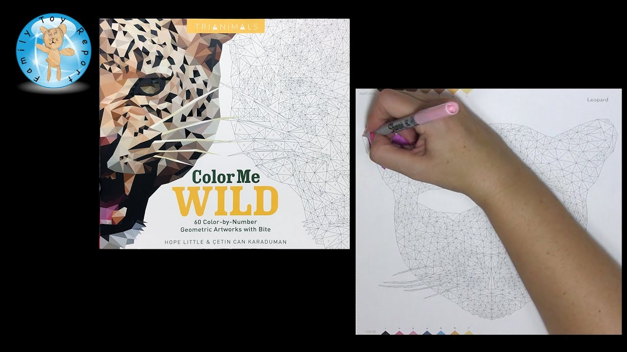 Trianimals Color Me Wild Color By Number Coloring Book Leopard Mask Colormewild