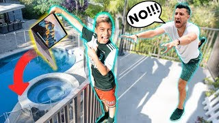 DROPPING MY DADS MACBOOK OVER BALCONY! **Father's Day PRANK** | The Royalty Family