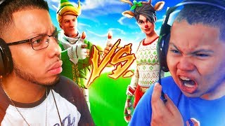 1V1 KAYLEN VS CHRIS!!! FIGHT OF THE YEAR OMG!! SO MUCH ON THE LINE!! MOST INTENSE FORTNITE 1V1 EVER!