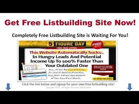 Free List Building Website – Get New Leads Daily from Free Website