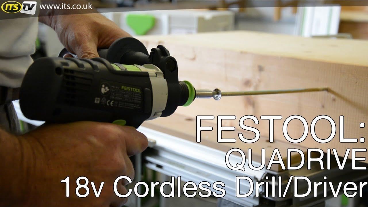 festool quadrive 18v pdc cordless quad drill driver youtube. Black Bedroom Furniture Sets. Home Design Ideas