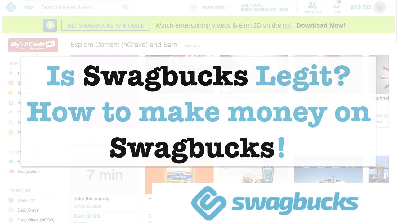 Is Swagbucks Legit? How to make money on Swagbucks!