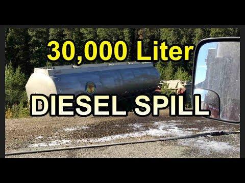 Diesel Spill On Hwy 1 Yukon,  CA