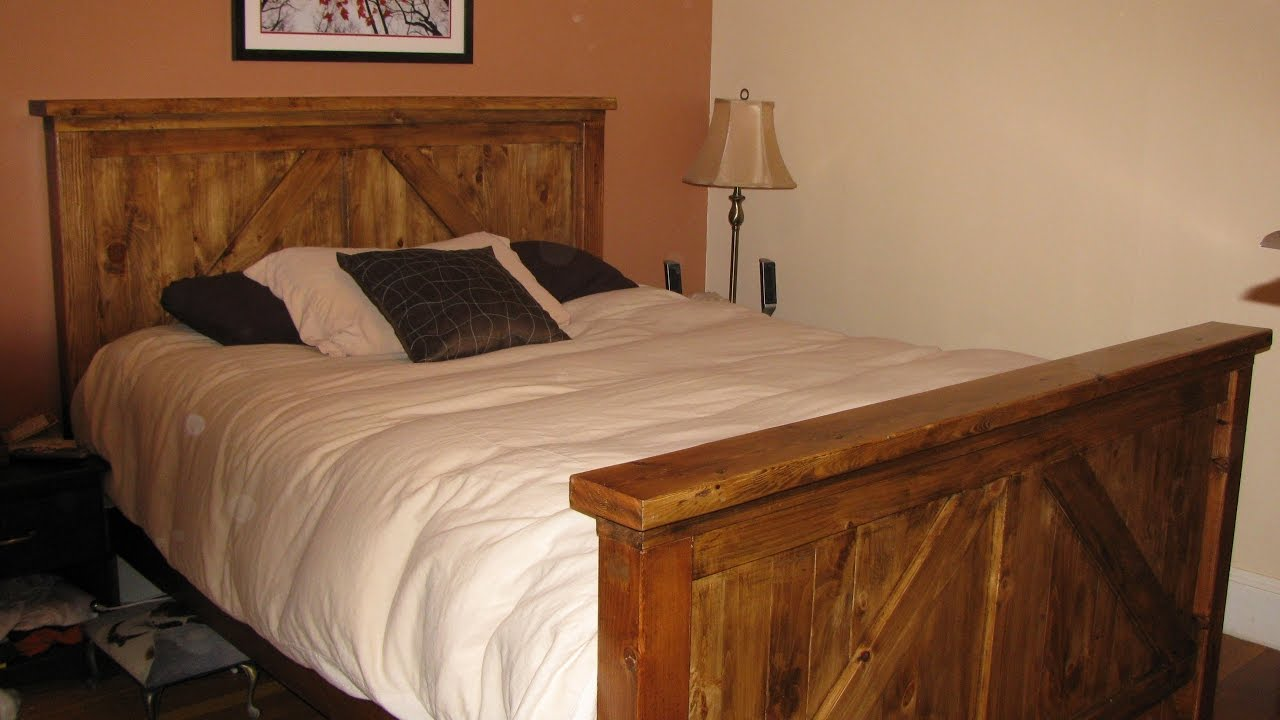 Queen Size Wooden Bed Frame YouTube