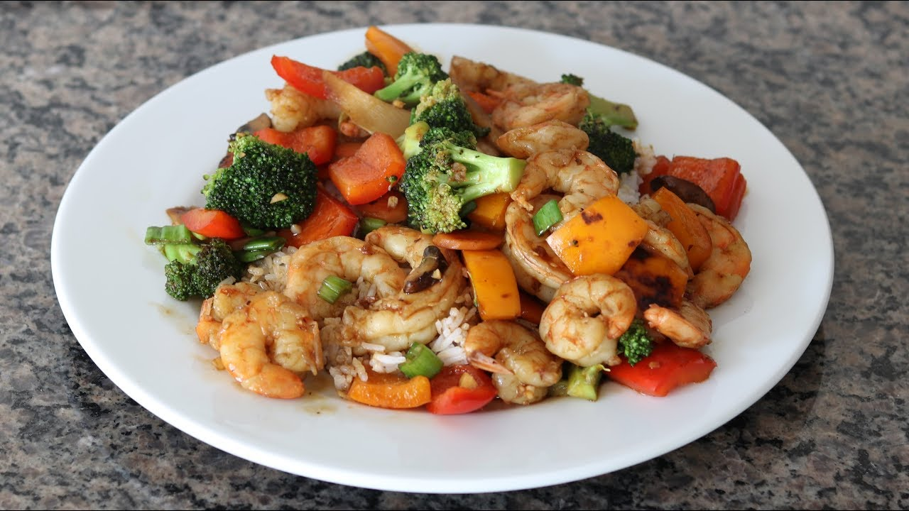 How to Make Combination Fried Rice - With Barbecue Pork ...  |Shrimp With Mixed Vegetables
