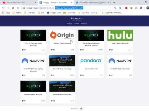SUPER CHEAP SHOPPY GG SHOP | NORDVPN MINECRAFT HULU SPOTIFY  https://shoppy gg/@PocketAlts