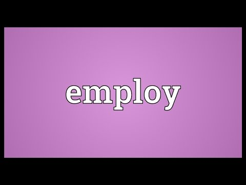 Employ Meaning