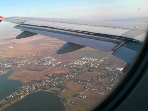 Romania: Landing at Bucharest Airport by Turkish Airlines ブカレスト国際空港着陸