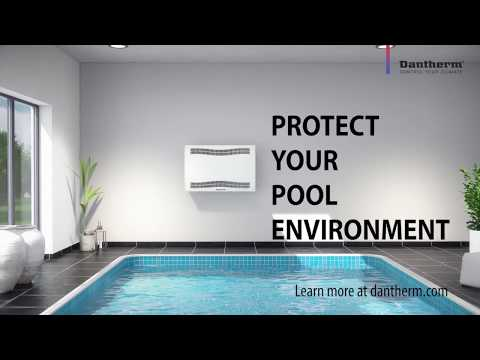 Swimming pool dehumidifiers for pool room installation