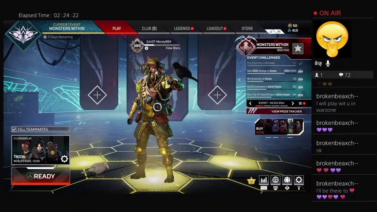 SUBSCRIBERS WILL CHOOSE MY LOADOUT APEX LEGENDS THIS SHOULD BE FUN ??