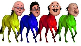 Learn Colors with Wrong Heads Motu Patlu John The Don Heads House Finger Family Song Colors Learn