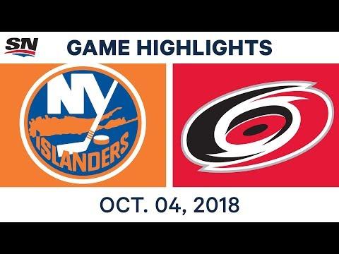 NHL Highlights | Islanders vs. Hurricanes - Oct. 4, 2018