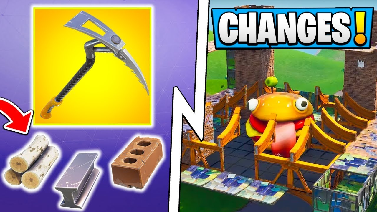 All Fortnite 63 Changes Food Fight Gameplay Material Limit Pickaxe Damage