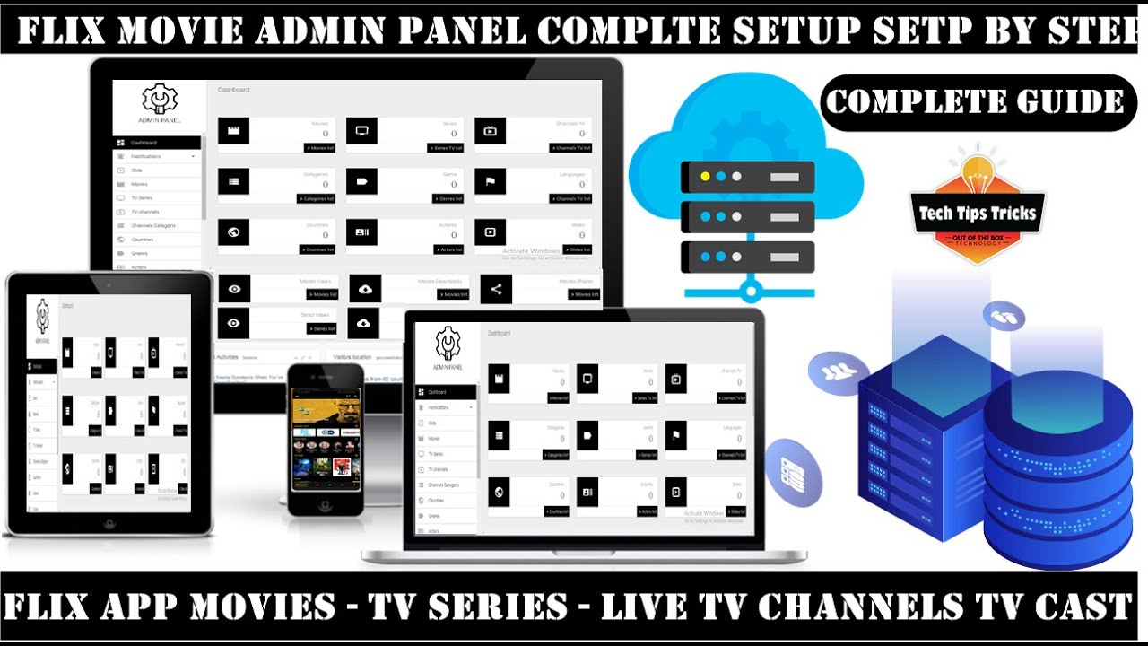 Admin Panel How To Setup – Flix Movie App – Make Admin Panel – 2020 Tech Tips Tricks
