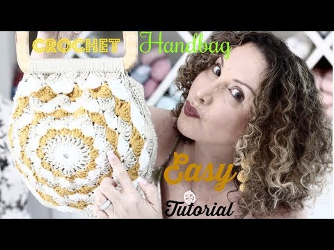 Easy Crochet Sunshine./Mandala style  Handbag Tutorial