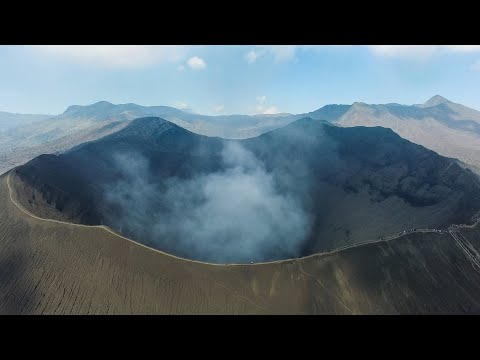 BROMO VOLCANO BY DRONE! (EPIC)