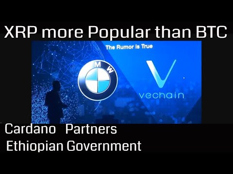 XRP more popular Than BTC. Deloitte Ditches Ethereum for VeChain