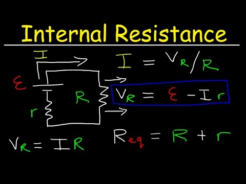 Internal Resistance Of A Battery, EMF, Cell Terminal Voltage, Physics Problems