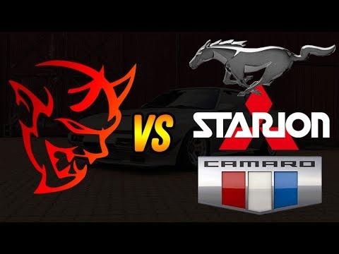 Dodge Demon vs Mitsubishi Starion, Ford Mustang, Chevy ...