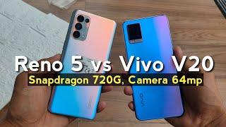 VIVO V20 VS OPPO RENO 5 4G   Test Camera & Videos
